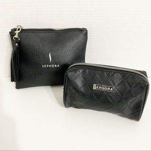 Sephora Cosmetic Zippered Cases Bundle One Quilted